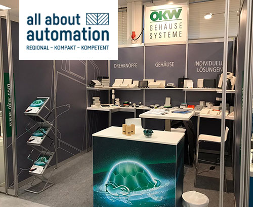OKW Messestand auf der all about automation in Hamburg